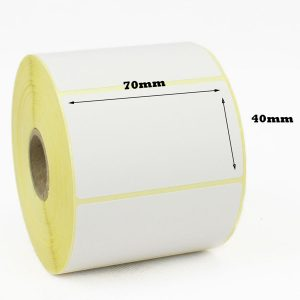 70mm x 40mm Self Adhesive Direct Thermal Labels -1000/Roll