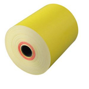 80mm x 70mm Yellow Thermal Paper Roll
