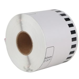 62mm x 30.48m – DK-44205 Continuous Removable White Paper Label Tape