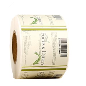 Self Adhesive Vinyl Cosmetic Essential Oil Bottle Labels Roll – Green