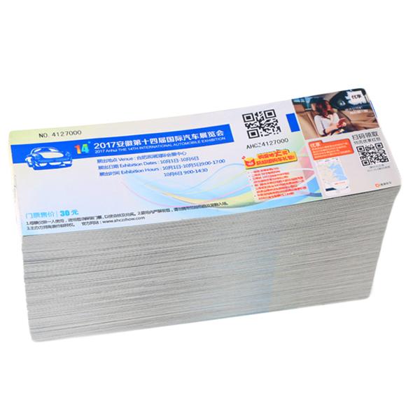 Customized Design Paper Ticket Printing