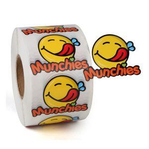 Self Adhesive Waterproof Circular Food Label Sticker Printing Roll