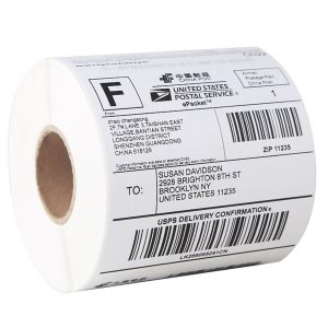 100mm x 100mm – Blank Self Adhesive Direct Thermal Labels -500/Roll
