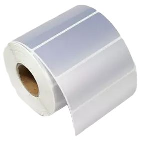 100mm x 50mm – Silver PET Blank PVC Thermal Transfer Barcode Labels Roll -500pcs