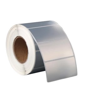 50mm x 30mm – Matte Silver PET Blank PVC Thermal Transfer Barcode Labels Roll -1000pcs