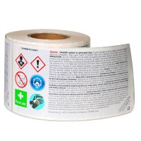Self Adhesive Waterproof Caution Warning Labels Roll