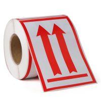 This Side Up Sign Warning Label Stickers- 500 Labels/Roll